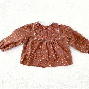 Zara Baby | Thick Cotton Peasant Top